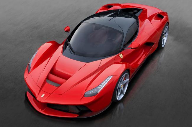 Ferrari LaFerrari visto desde arriba