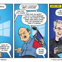 Este cómic de 2012 ya vio venir el iPad Pro y su teclado como imitación de la Surface