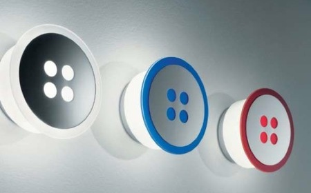 Lámparas con forma de botón