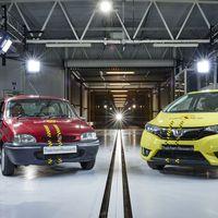 20 años de Euro NCAP resumidos en la prueba de choque definitiva: Rover 100 vs Honda Jazz