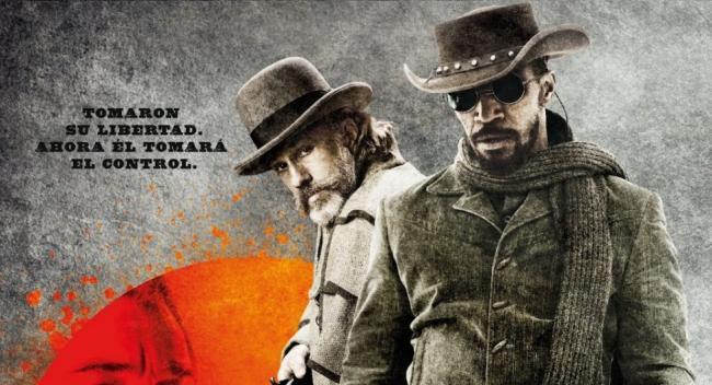 Imagen con un cartel de 'Django desencadenado'