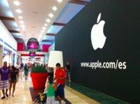 El logotipo de Apple ya luce en un local cerrado del centro comercial Parquesur de Madrid