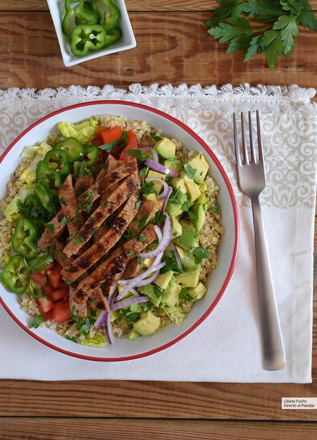 Ensalada De Quinoa Con Ternera Y Aguacate