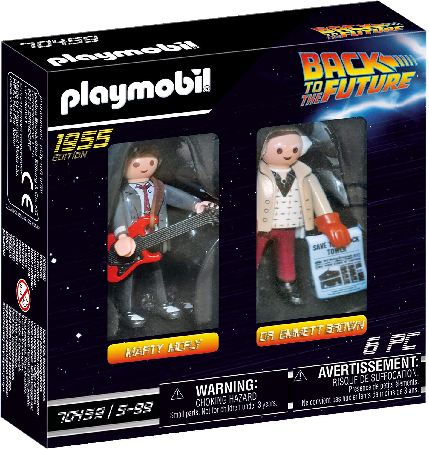 Playmobil 2 Figure Set Marty & Doc Brown