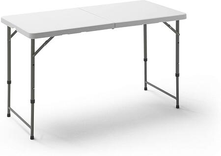 Kg Kitgarden Mesa Plegable Multifuncional 122x60x58 74cm Blanco Folding 122