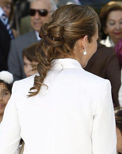 Peinado para mamás el día de la Comunión, la Infanta Elena