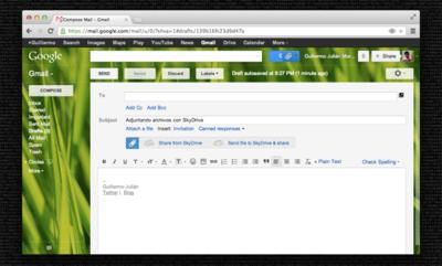 Attachments.me ya permite subir adjuntos a SkyDrive desde Gmail