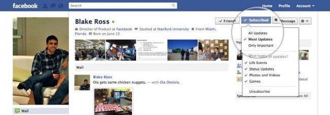 """Botón """"Suscribirme"""" de Facebook"""