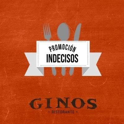 Vuelve la promoción para indecisos de tus cenas en Ginos