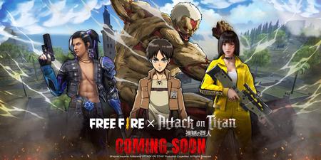 'Attack on Titan' invadirá el universo de 'Free Fire' con nuevo contenido durante su evento especial de marzo