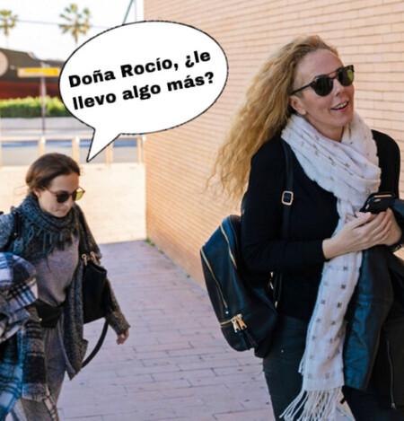 Rocío Carrasco tiene nueva empleada doméstica: Anabel Dueñas le lleva hasta las bolsas de la compra