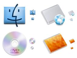 """Iconos NOD """"inspirados"""" en los que incluye Mac OS X"""