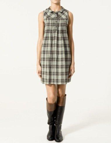 Zara Otoño-Invierno 2010/2011, vestido cuadros