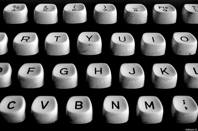 teclado máquina de escribir