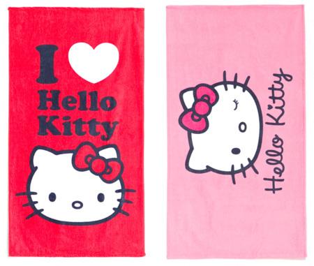 Toallas de playa de Hello Kitty para niña en Zara