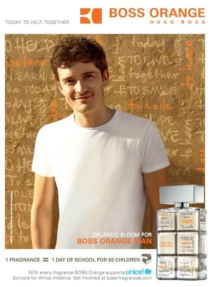 'Help together', un perfume con mensaje por Boss Orange más Unicef