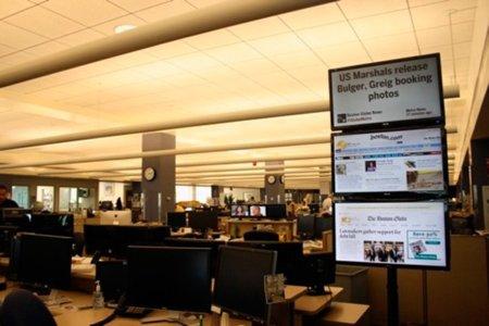 Twitter se cuela en la redacción del periódico Boston Globe... literalmente