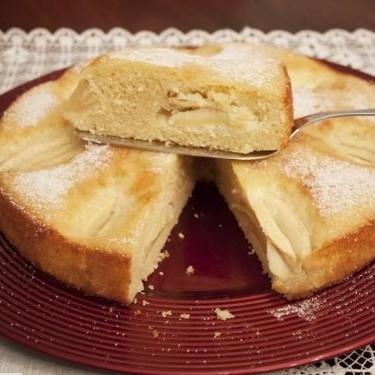 Receta de bizcocho de manzanas cuarteadas