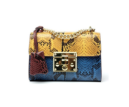 Bolso Cuero Amazon Serpiente Multicolor