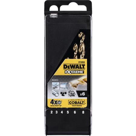 Juego De 6 Brocas De Cobalto Hss E E X Treme Para Metal En Cassette De Plastico P 548055 7243997 1