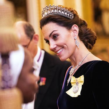 Kate Middleton triunfa con su vestido de noche y la tiara preferida de Lady Di en la recepción a los miembros del Cuerpo Diplomático 2019