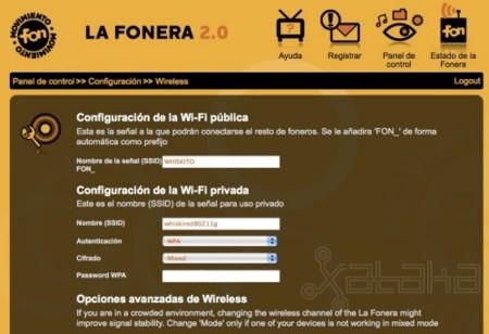 Fonera 2.0 WiFi config