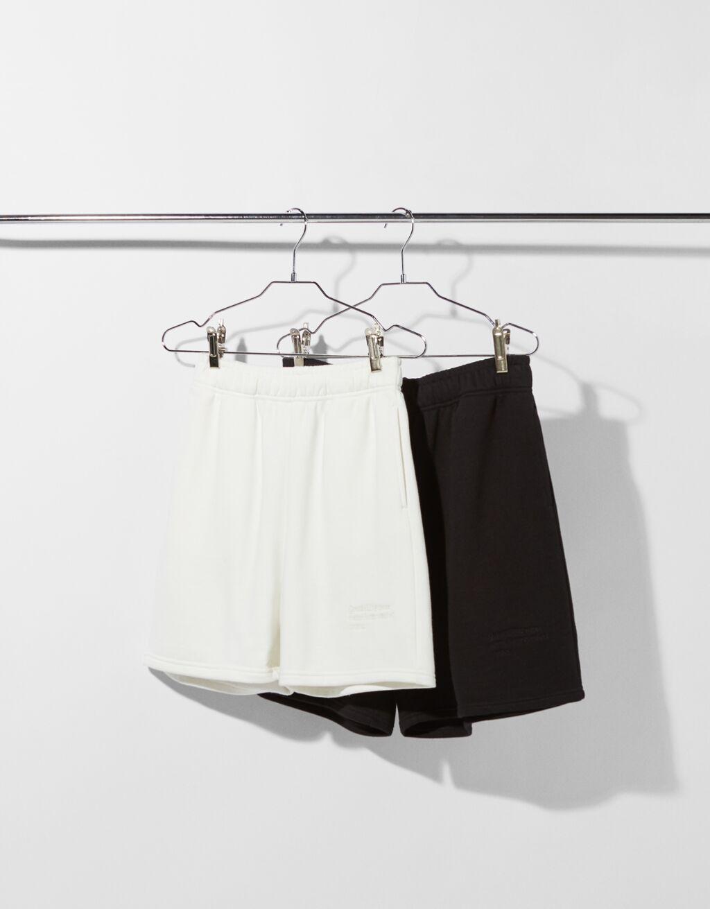 Pack de dos bermudas de felpa en blanco y negro