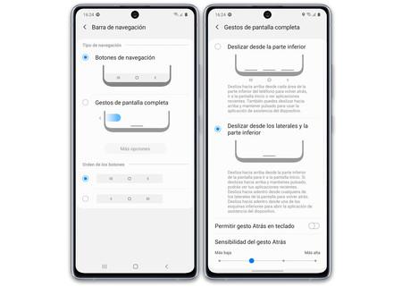Samsung Galaxy S10 Lite S10 Pantalla Navegacion