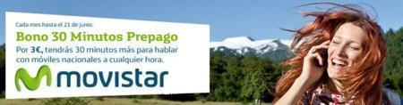 Movistar lanza un bono de 30 minutos al mes para usuarios de tarjeta prepago