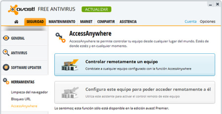 Avast! 8 Access Anywhere
