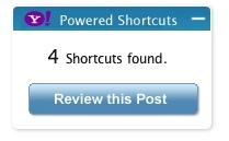 Yahoo Shortcuts, información extra en tus posts de WP
