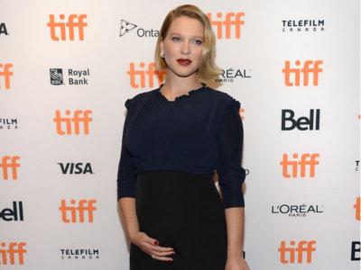 Una Léa Seydoux embarazada posa en Toronto para la promoción de la película de Xavier Dolan