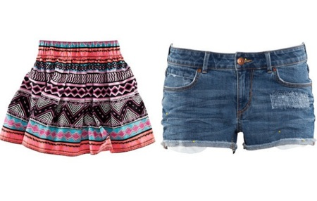 falda y shorts playa