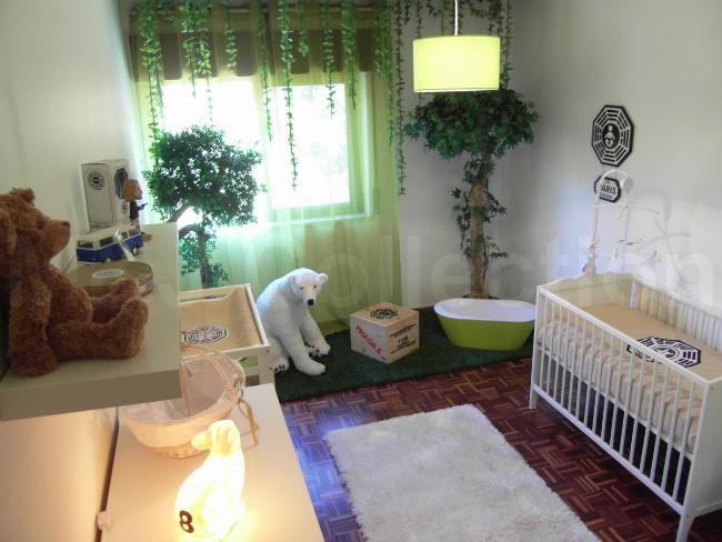 Dormitorio de bebé inspirado en Lost