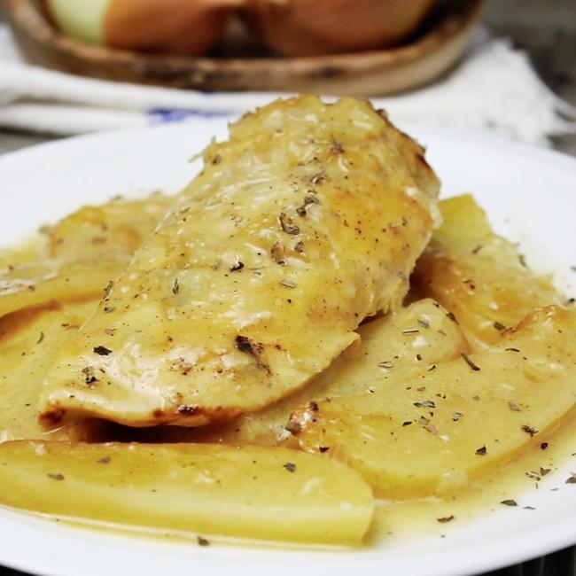 Pollo en salsa de miel mostaza. Receta en video
