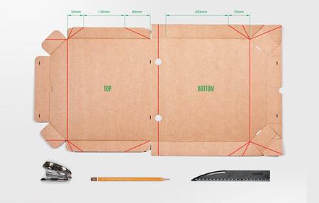 Soporte de portátil con una caja de pizza - instrucciones