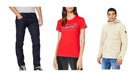 Chollos en tallas sueltas de pantalones, abrigos y chaquetas de marcas como Levi's, Pepe Jeans  o Hikaro en Amazon