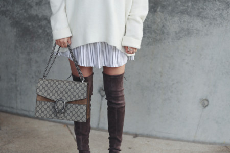 Over The Knee Boots Cozy Sweater Ohhcouture 9