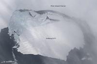Un gran iceberg se separa de la Antártida