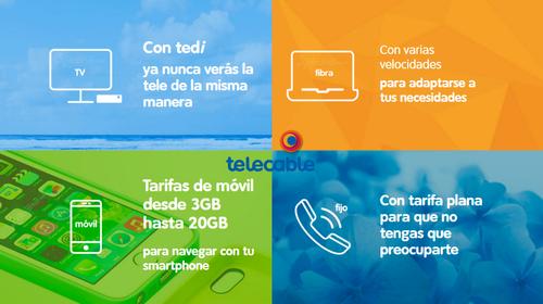 telecable responde a la subida de gigas con la renovación de sus tarifas y nuevo máximo de 20 GB
