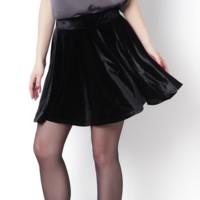 Falda de terciopelo