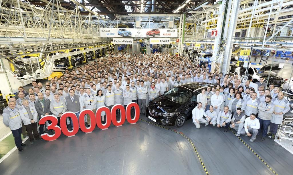 Renault Palencia 300.000 coches fabricados