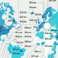 Los países más baratos y más caros para pasar la jubilación, ordenados en un mapa
