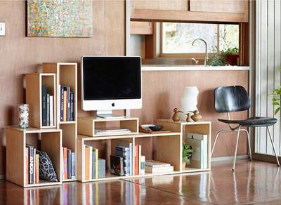 Una interesante estantería modular de madera