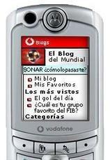 Blogs en el móvil con Vodafone Live