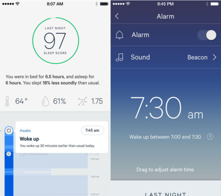 Hello Sense sleep tracking
