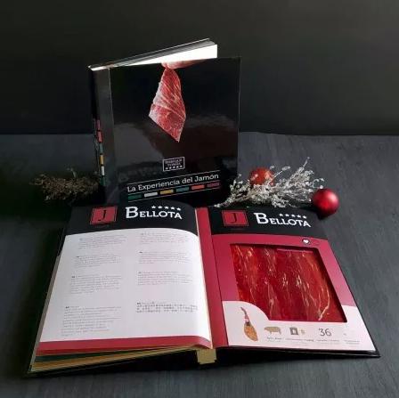 Libro 'La Experiencia del Jamón' y seis blísters de ibérico