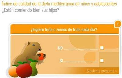 Test para evaluar online la dieta mediterránea de nuestros hijos