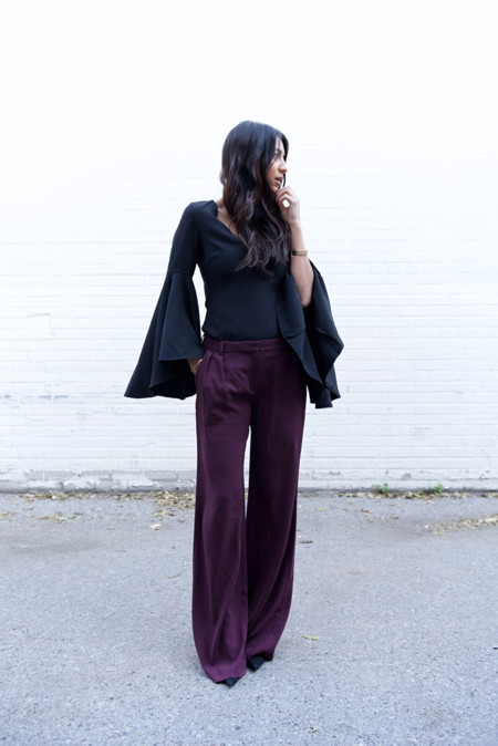Flared Trousers Street Style 4