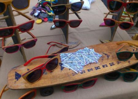 Brak Sunglasses, gafas creadas reciclando monopatines